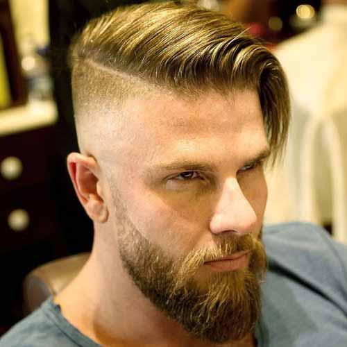 Peinado tipo Undercut en pelo lacio, fino pero con mucho volumen