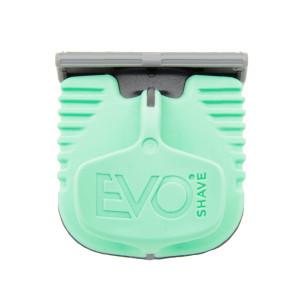 Cuchilla de afeitado con mango verde de EvoShave