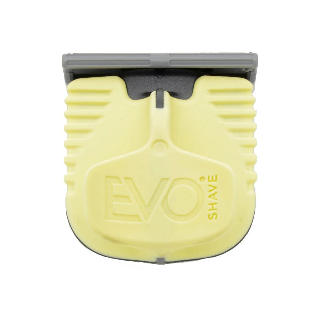 Cuchilla de afeitado con mango amarillo de EvoShave