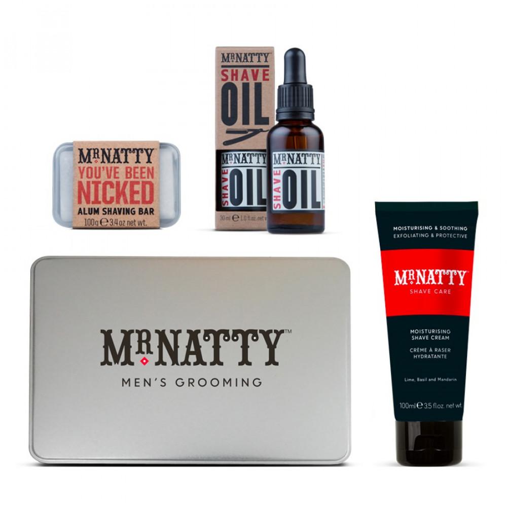 Kit de afeitado Ultimate Shave Tin de Mr. Natty