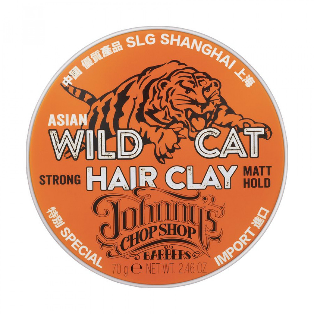 Cera fijadora Wild Cat Hair Clay de Johnny's Chop Shop