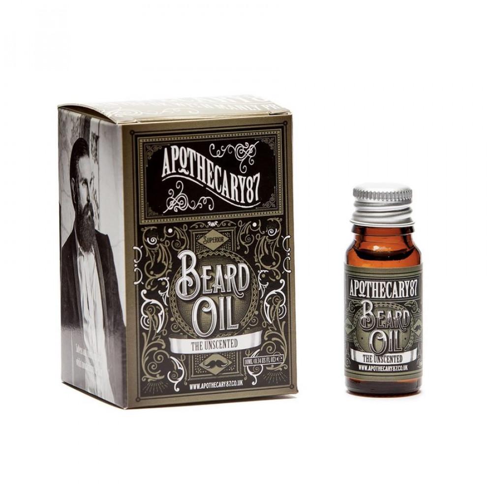 Aceite para barba The Unscented de Apothecary87