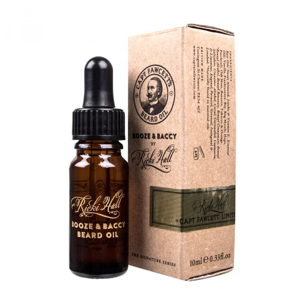 Captain Fawcett Ricki Hall Booze & Baccy Beard Oil - 10ml (Aceite para barba)