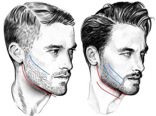 Barba recortar
