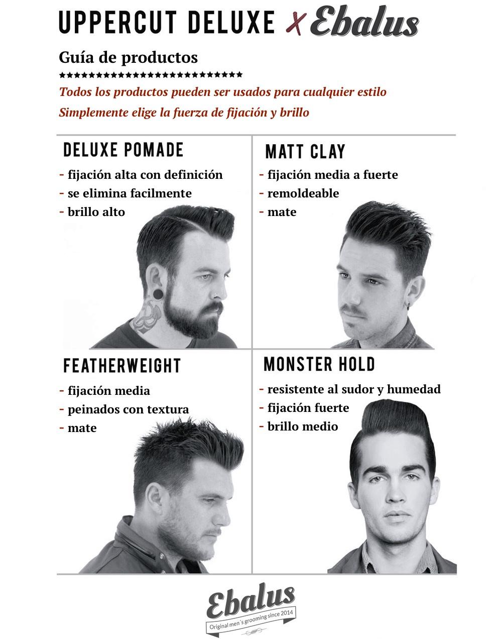 Guía de fijadores para pelo de Uppercut Deluxe