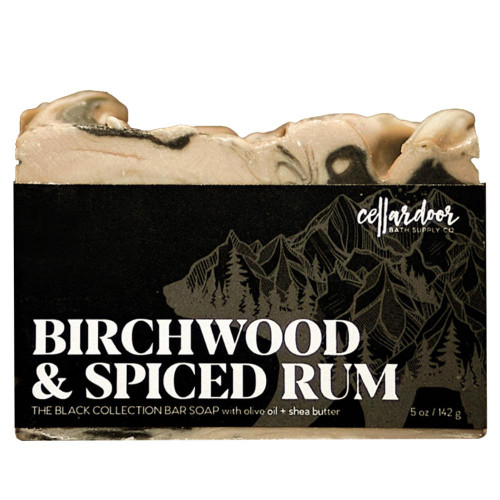Jabón natural y vegano Birchwood + Spiced Rum de Cellar Door Bath Supply Co