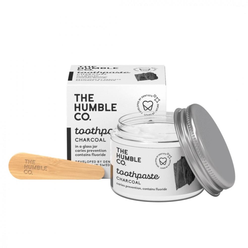 Pasta de dientes natural Carbón activo en jarra de The Humble Co.