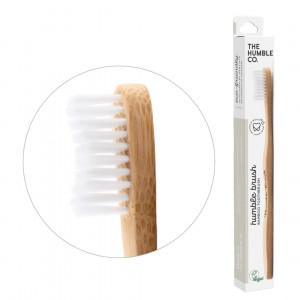 Cepillo de dientes medio, hecho en bambú y nilón