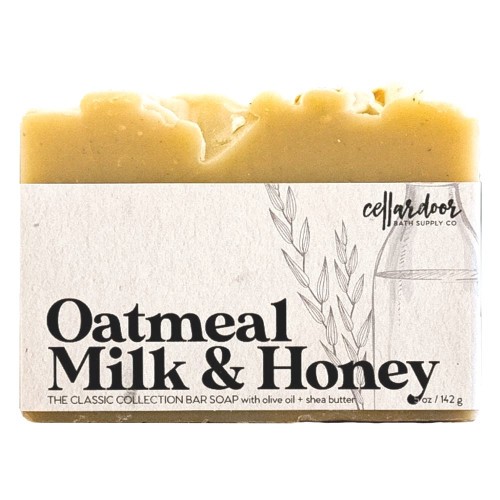 Jabón natural y vegano Oatmeal Milk & Honey de Cellar Door Bath Supply Co