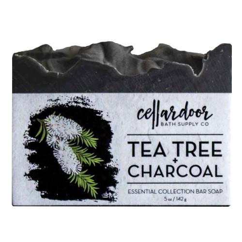 Jabón natural y vegano Tea Tree + Charcoal de Cellar Door Bath Supply Co