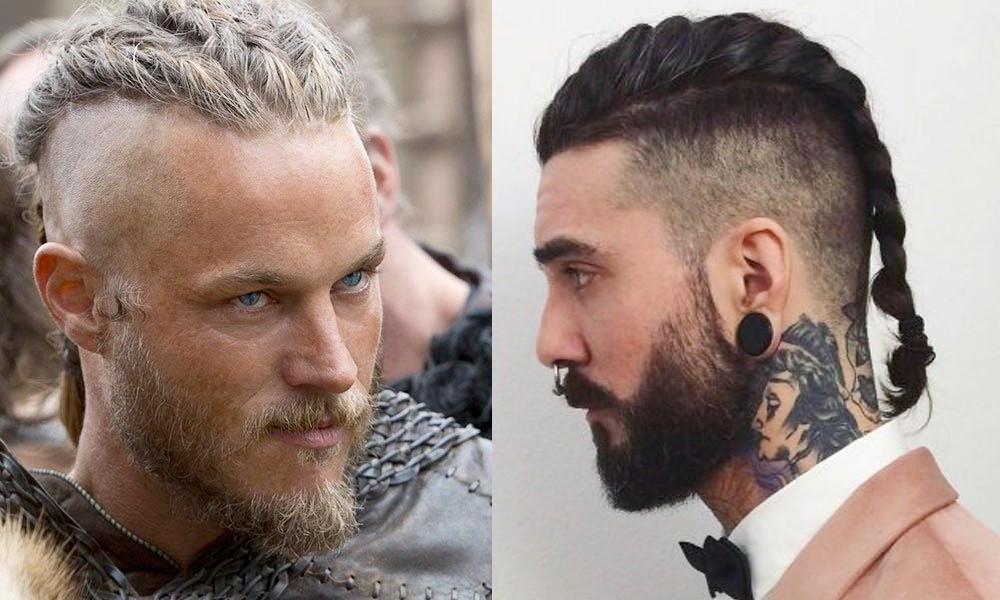 peinado pelo largo hombre vikingo